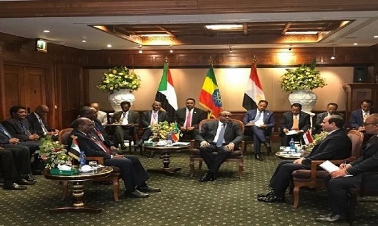 السيسى بعد القمة الثلاثية : مصر والسودان وأثيوبيا دولة واحدة ولا مشكلة بشأن المياه !!