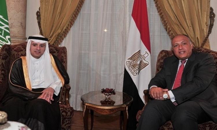 سامح شكرى للجبير : أمن البحر الأحمر جزء لا يتجزأ من الأمن القومى العربى