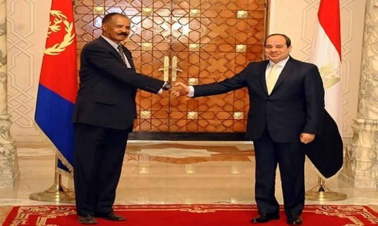 انطلاق القمة المصرية – الإريترية بين الرئيسين السيسى و افورقى