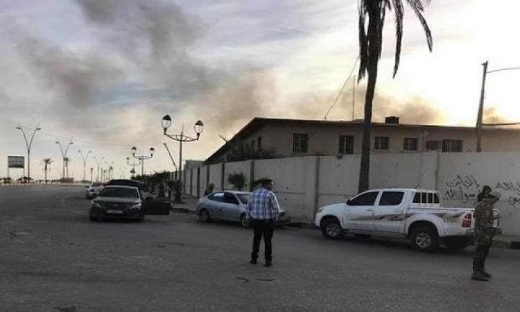 هجوم على مطار معيتيقة الدولى الليبى وايقاف حركة الطيران فيه