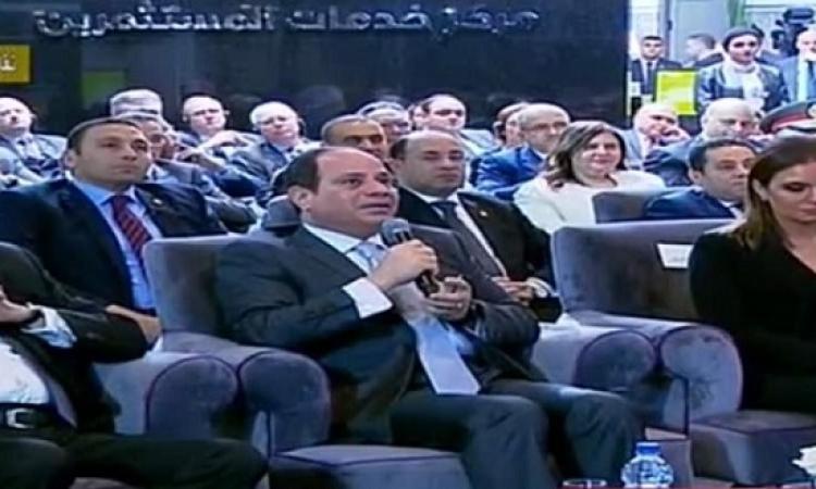 السيسى : الدولة ليست طرفاً فى استيراد الغاز .. ومعندناش حاجة نخبيها !!