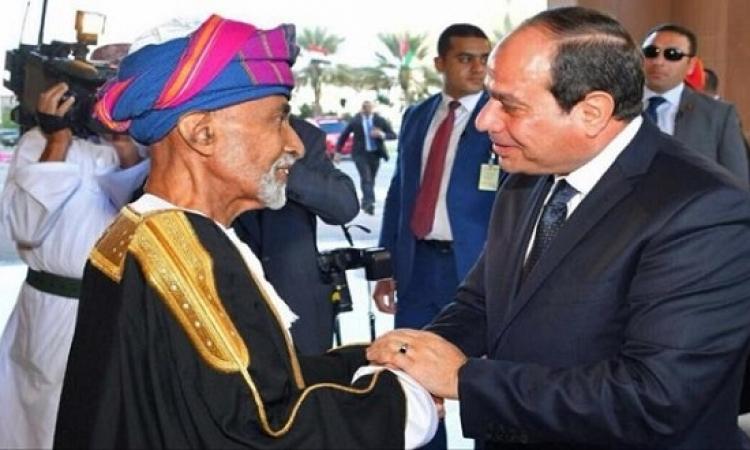 السيسى يواصل زيارته لسلطنة عمان ويزور جامع قابوس والمتحف العسكرى