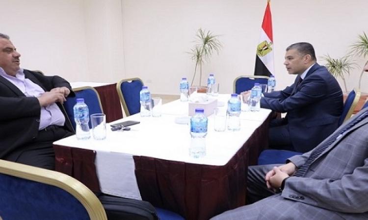 بالصور .. الوفد المنى المصرى يلتقى محافظ شمال غزة