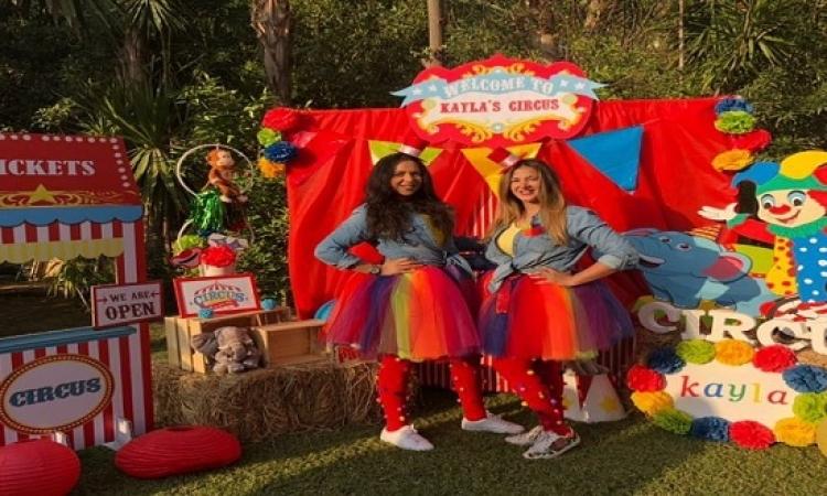 "بالصور.. دنيا سمير غانم تحتفل مع أختها إيمى بعيد ميلاد ابنتها ""كيلا"""