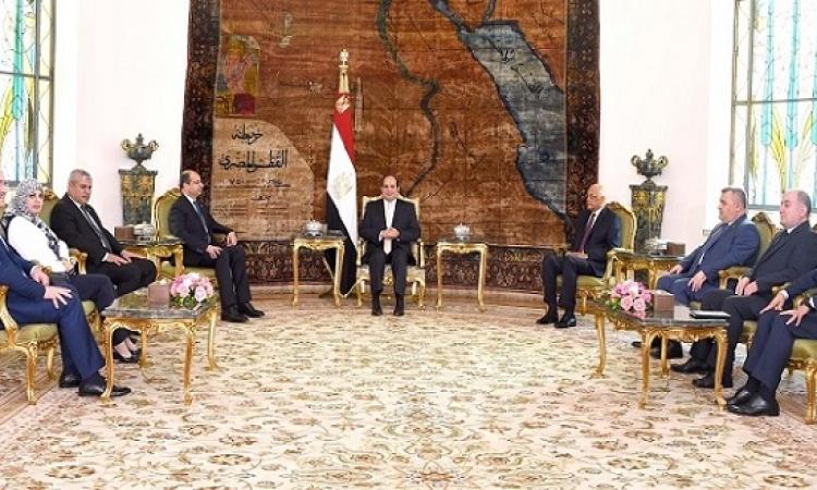 السيسى يبحث مع رئيس مجلس النواب العراق تعزيز التعاون بين البلدين