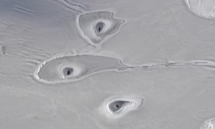 ناسا ترصد علامات غامضة في ثلوج القطب الشمالي