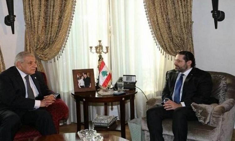 محلب يؤكد للحريرى دعم مصر الكامل لأمن وإستقرار لبنان