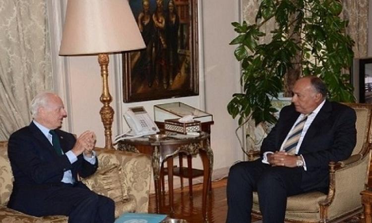 سامح شكري يلتقي اليوم مبعوث الأمم المتحدة لسوريا فى القاهرة