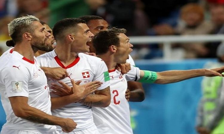 سويسرا تحول تأخرها أمام صربيا لفوز درامى 2-1 باللحظات الأخيرة