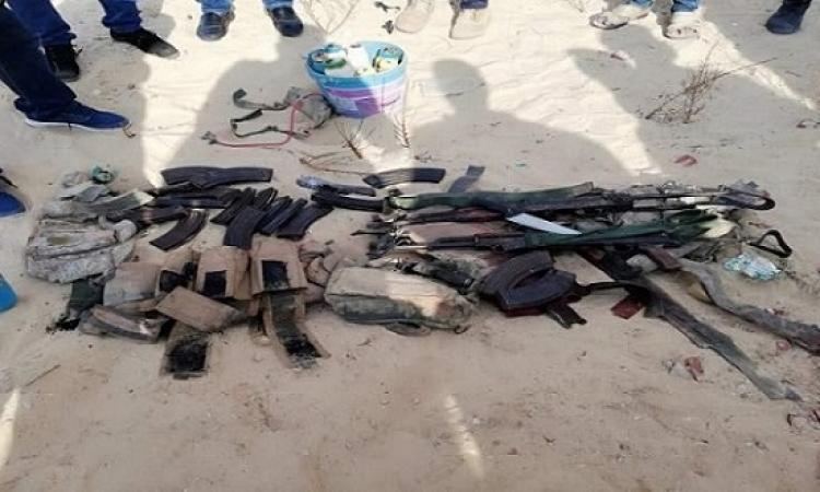 بالصور .. مقتل 4 إرهابيين فى محاولة فاشلة لاستهداف الكمين الساحلى بالعريش