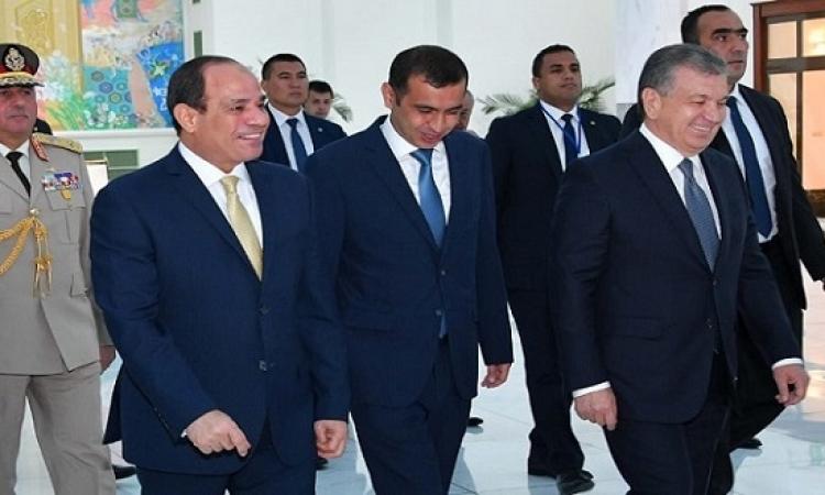 انطلاق القمة المصرية – الاوزبكية بين السيسى وميرضيايف فى طشقند
