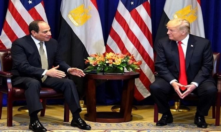 السيسى يؤكد لترامب حرص مصر على تعزيز علاقات الشراكة مع امريكا