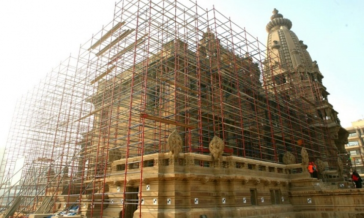 وزير الآثار يتفقد مشروع تطوير قصر البارون فى مصر الجديدة
