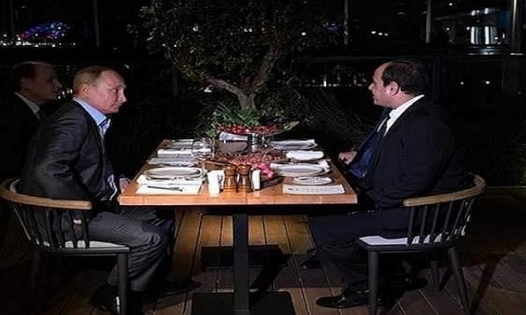 بالصور .. الرئيس السيسى يعرب عن سعادته البالغه بلقاء فلاديمير بوتين