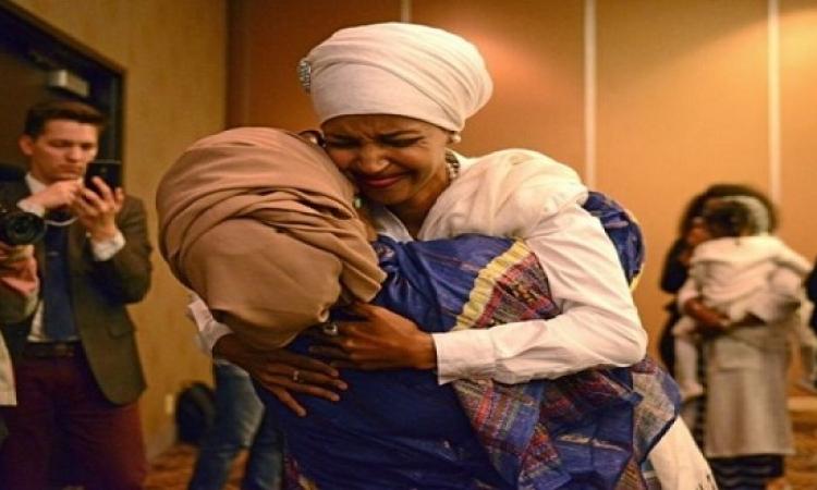 مسلمتان إحداهما محجبة لأول مرة على مقاعد الكونجرس