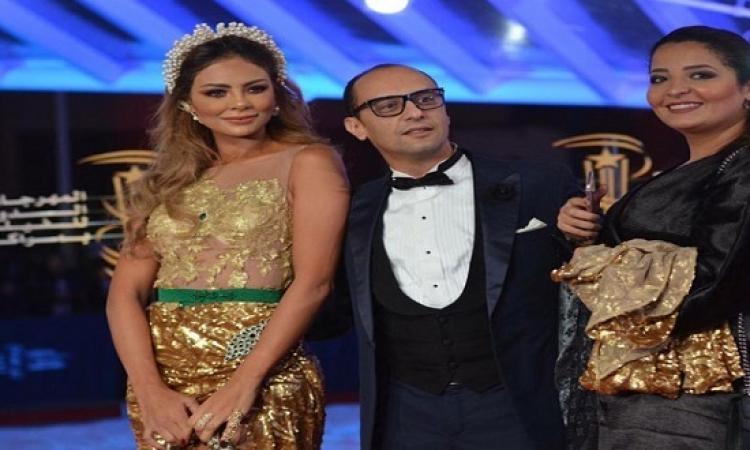 غيثة الحمامصى تطل على جمهور مهرجان مراكش الدولى للفيلم بفستان من الذهب