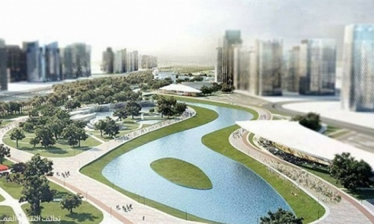 مدبولى يشهد بدء العمل فى مشروع النهر الأخضر بالعاصمة الإدارية الجديدة