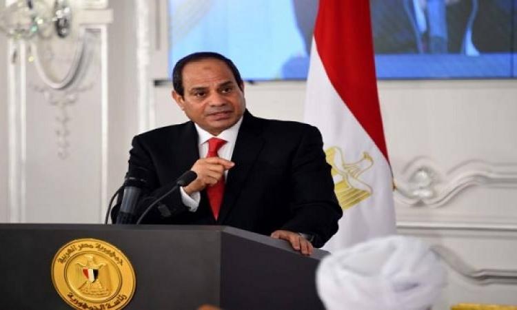 السيسى يتفقد اجراءات التفتيش ورفع الكفاءة القتالية بقاعدة محمد نجيب العسكرية