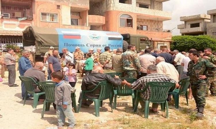 الجيش الروسي يوزع مساعدات إنسانية في درعا جنوبي سوريا