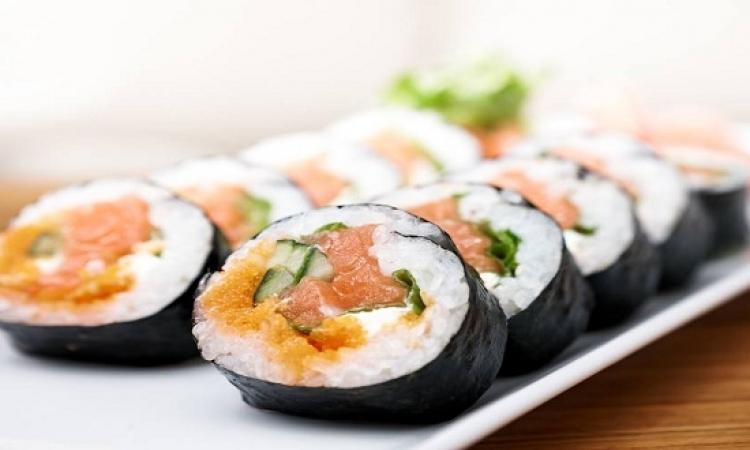 من المطبخ اليابانى .. سوشى بالجمبرى