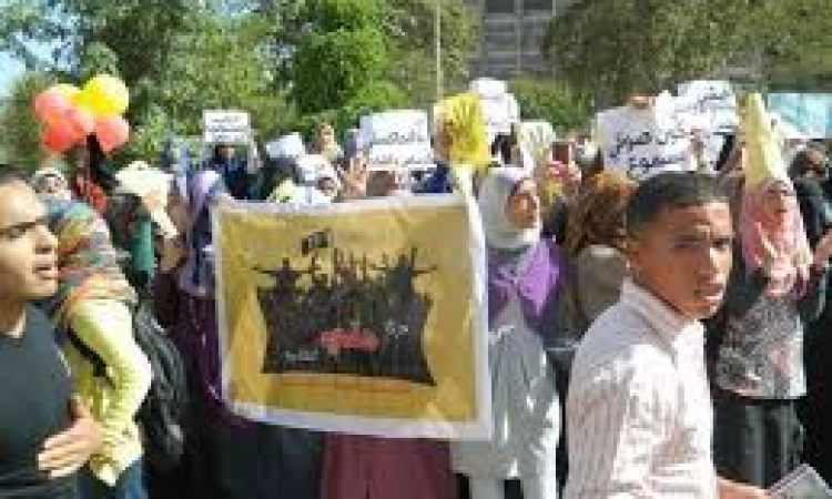 تظاهرات الإرهابية بأسيوط للذكري الثانية لـ 25 يناير
