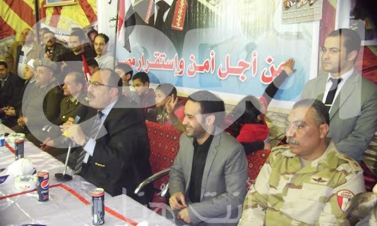 """""""بدر"""" يقود احتفالية في حب مصر و """"السيسي""""  في شبين القناطر"""