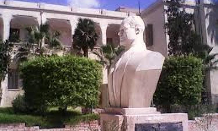 """"""" حماد """" يستقبل ابن وحفيد عبدالناصر لازاحة الستارعن تمثال الزعيم ."""
