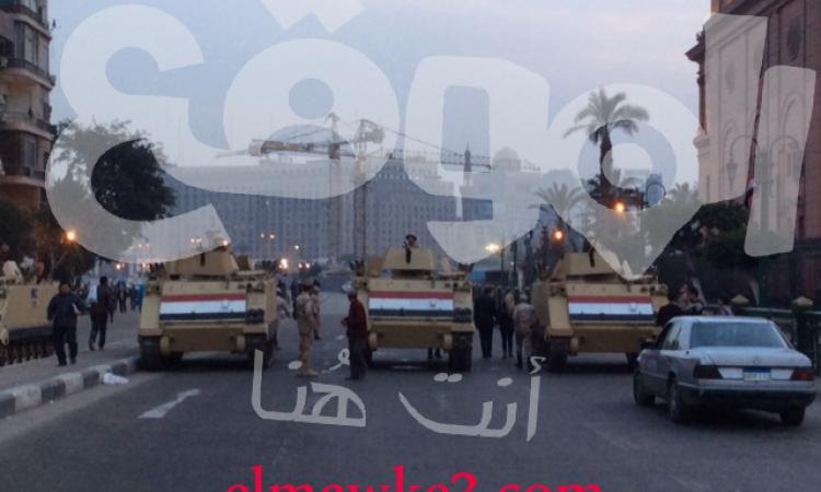 بالصور.. غلق ميدان التحرير بقوات من الجيش والشرطة والغلق سيستمر لـ25 يناير