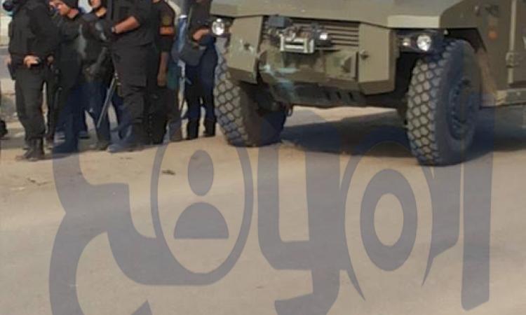 """بالصور """"وصول تعزيزات أمنية بالمهندسين لمواجهة شغب """" الإرهابية"""