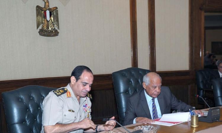"""الببلاوي يعلن تأييده لـ""""السيسي"""" رئيساً للجمهورية"""