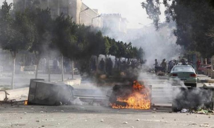 """عناصرمن """"الإرهابية"""" تشغل النيران في نقطة شرطة روكسي"""