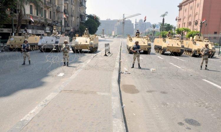 أستنفار أمني فى محيط ميدان التحرير