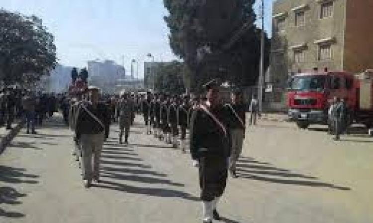 جنازة عسكرية لشهيد الشرقية بحضور قيادات المديرية