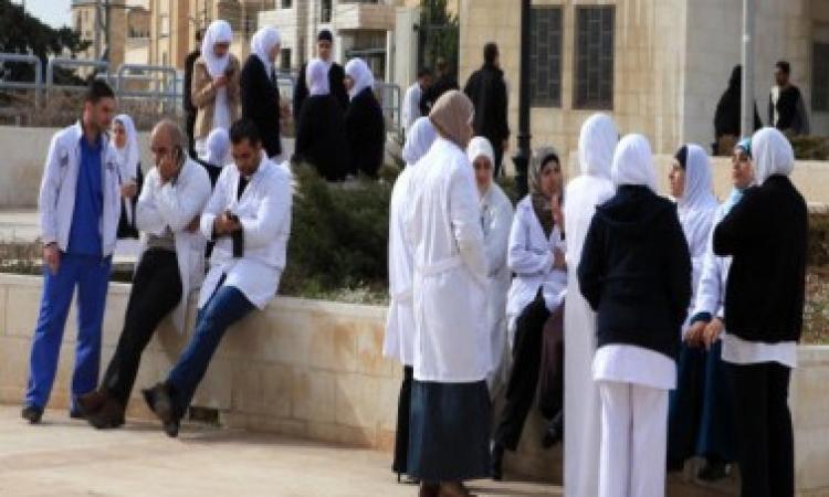 اضراب طاقم التمريض بمستشفى المنيرة
