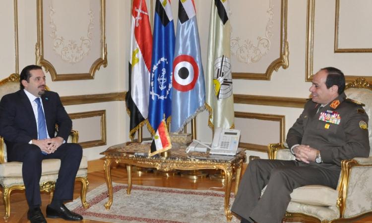 المشير السيسى يلتقي رئيس الوزراء اللبنانى السابق