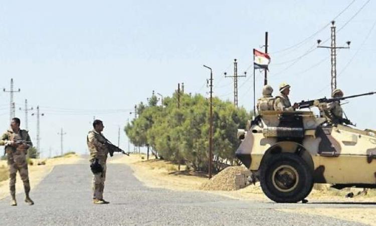 الجيش الثانى يواصل عمليات تطهيرجنوب رفح والشيخ زويد والعريش