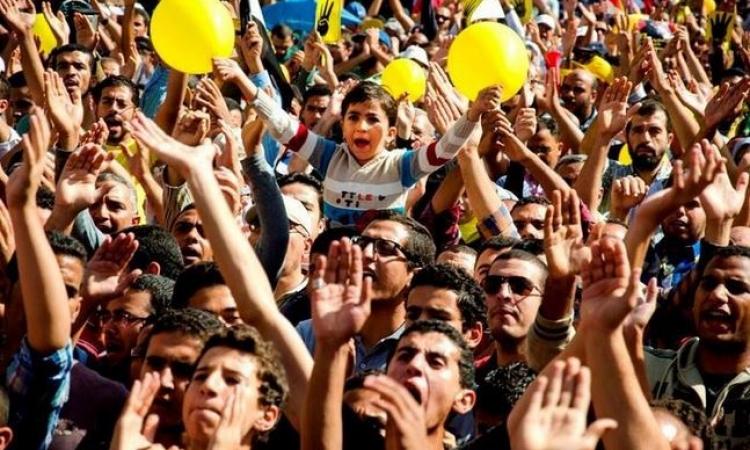 فض الأهالي مسيرة للإرهابية فى مدينة نصر