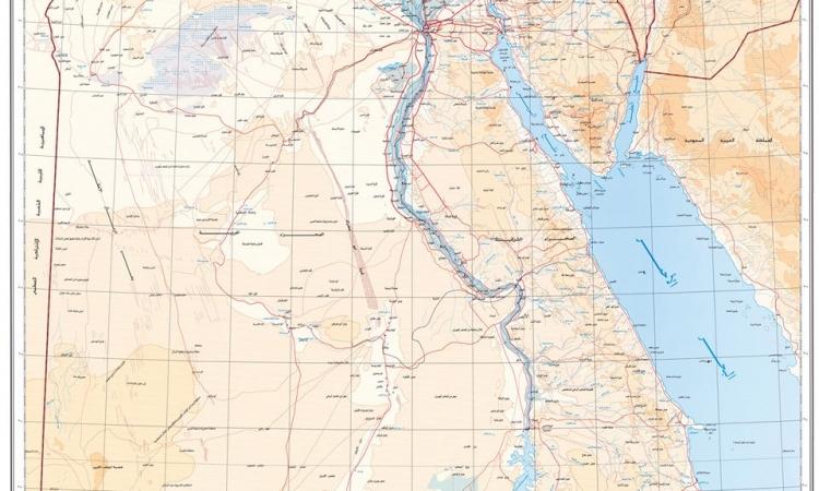 ننشر خريطة جمهورية مصر العربية المعتمدة من القوات المسلحة