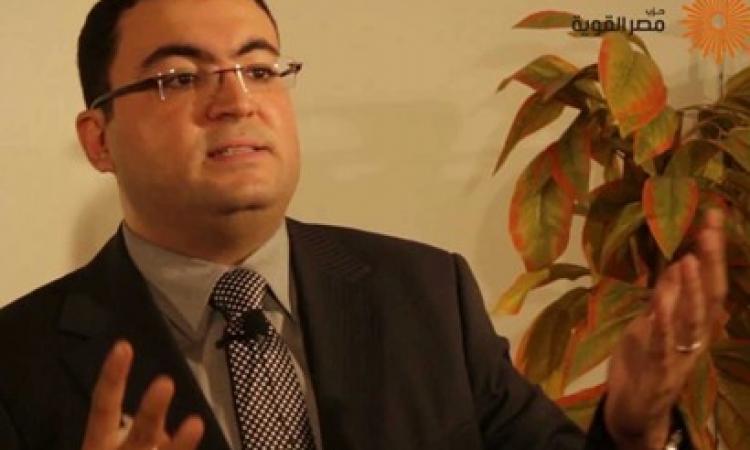 """مصر القوية يؤكد عدم دعم """"السيسي"""" للرئاسة"""