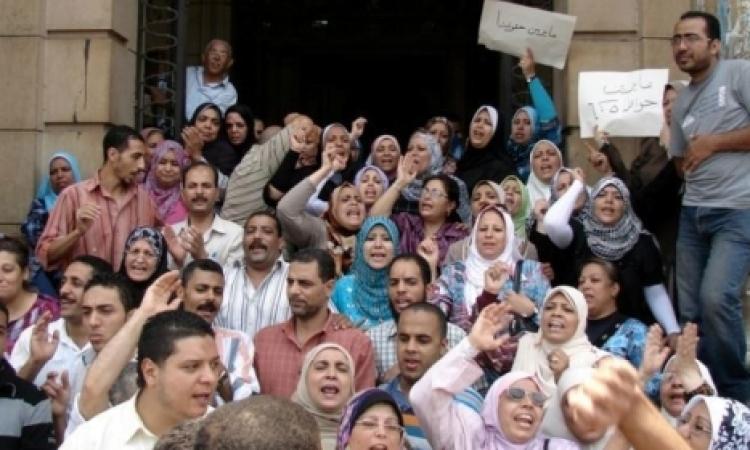 """""""حماية لحقوق الإنسان"""" يتضامن مع مؤقتى الصحة والشهر العقاري بقنا"""