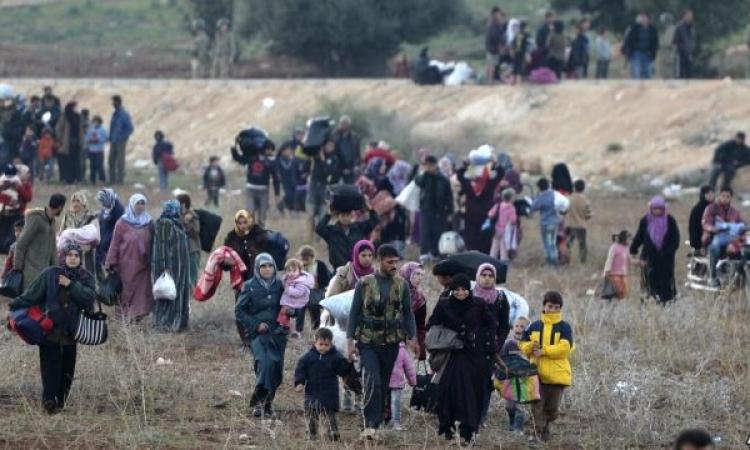 سكاي نيوز : نزوح جماعي عن حلب نتيجة القصف بالبراميل المتفجرة