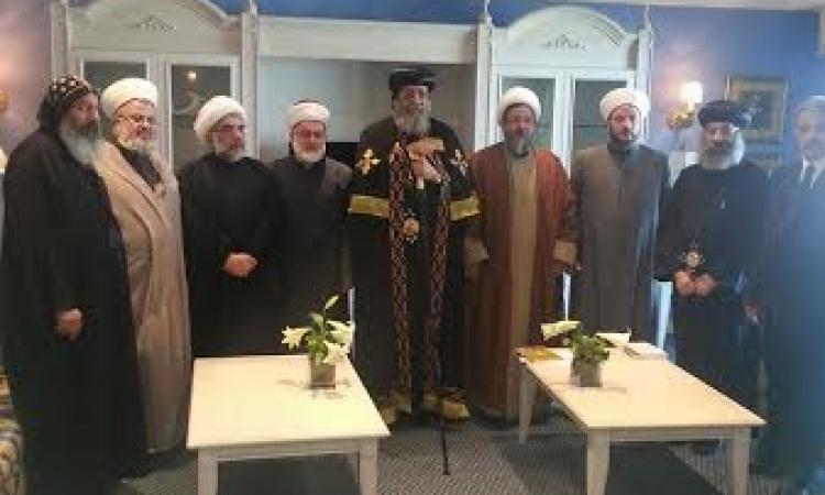 البابا تواضروس يلتقي تجمع علماء المسلمين في لبنان