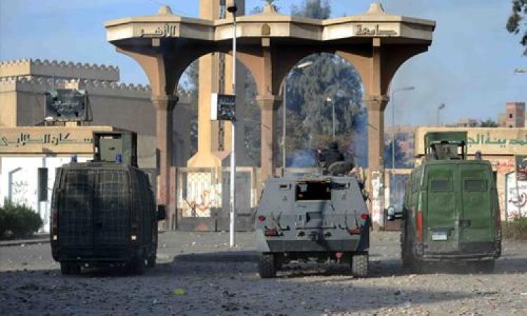 قوات الأمن تدفع بتعزيزات لحرم «الأزهر» للسيطرة على عنف طلاب الإخوان