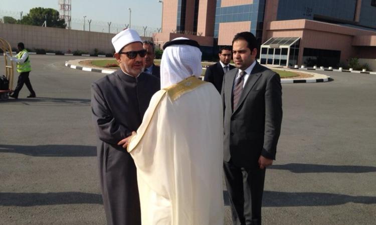بالصور..شيخ الأزهر يغادر الإمارات