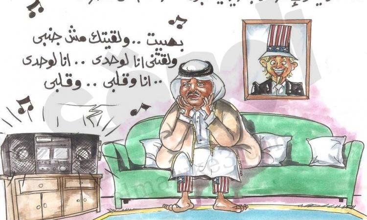 """كاركاتير """"الموقع"""" : السعودية والإمارات والبحرين يسحبون سفرائهم من قطر"""