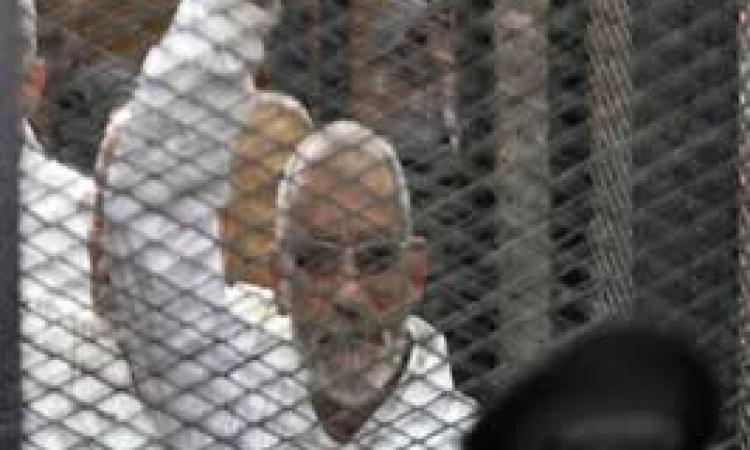 """تأجيل محاكمة بديع وقيادات """"الإخوان"""" فى أحداث """"البحر الأعظم"""" لـ 12 مارس"""