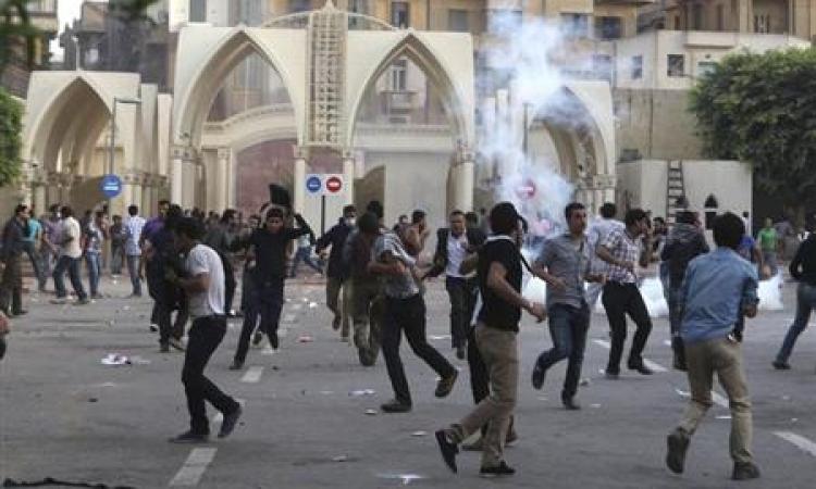 """إصابة لواء شرطة بـ""""خرطوش"""" في اشتباكات """"عين شمس"""" """