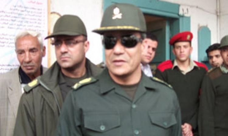 مدير الشرطة العسكرية يتفقد مكان الحادث وسط تكثيف أمني بمسطرد