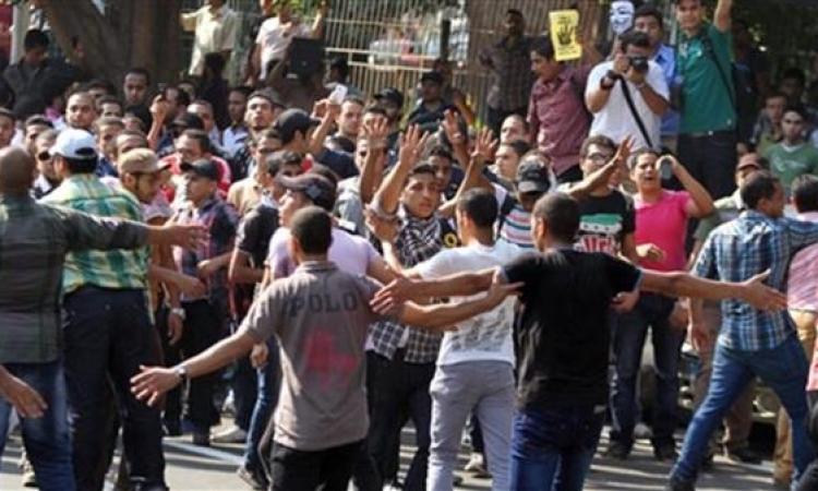 طلاب الإرهابية يتظاهرون بجامعة المنيا
