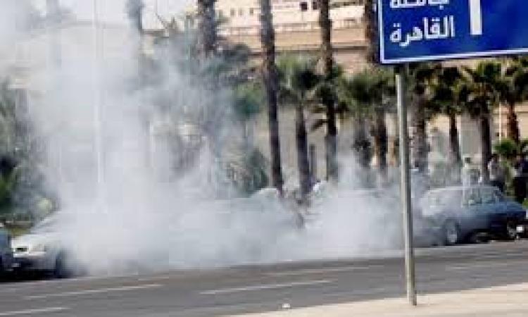 """انفجار كشك مرور بميدان الحصري بـ""""6 أكتوبر"""""""